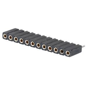 Präz.-Buchsenleisten 2,54 mm, 1X12, gerade MPE-GARRY 115-1-012-1-0-MTF-XS0