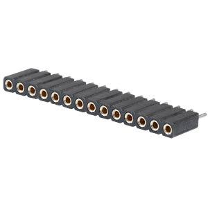 Präz.-Buchsenleisten 2,54 mm, 1X14, gerade MPE-GARRY 115-1-014-1-0-MTF-XS0