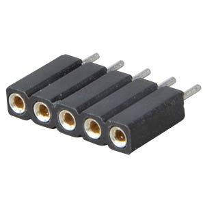 Präz.-Buchsenleisten 2,54 mm, 1X05, gerade MPE-GARRY 115-1-005-0-MTF-XS0
