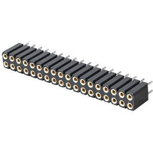 Precision sockets 2.54 mm, 2X18, straight MPE-GARRY 115-3-036-0-MTF-XS0