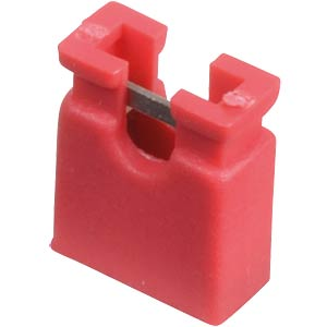 Jumper 2,54 mm, geöffnet, rot MPE-GARRY 149-1-002-F1-XS