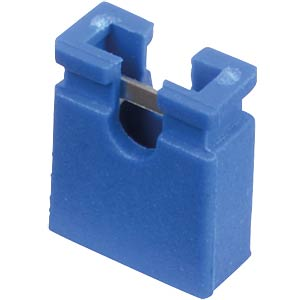 Jumper 2,54 mm, geöffnet, blau MPE-GARRY 149-1-002-F3-XS