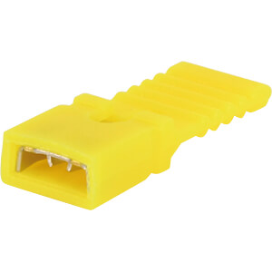 Jumper 2.54 mm, closed with handle, yellow MPE-GARRY 149-4-002-F4-XS