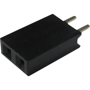 RND Buchsenleiste, 2-pol, RM 2,54 mm RND CONNECT RND 205-00642