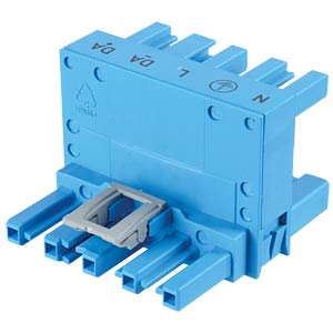 WINSTA® MIDI, H-distributor, five-pin, blue WAGO 770-993
