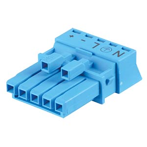 WINSTA® MINI, five-pin socket, without strain relief housing WAGO 890-1105