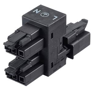 WINSTA® MINI, h-splitter 1 x plug/2 x female connector WAGO 890-636