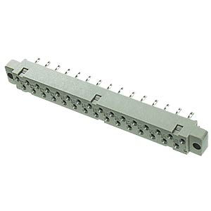 Female multipoint connector, 31-pin, DIN 41617, soldering lugs, FREI