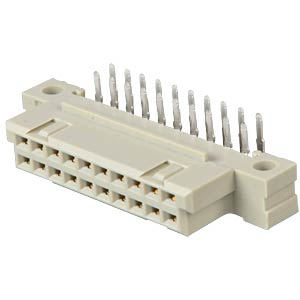 Female multipoint connector 20-pin, angled, A-B ERNI 294927