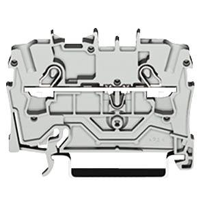 2-conductor feed-through terminal, 24 A 0.25 - 2.5 mm² grey WAGO 2002-1201