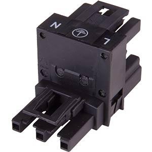 WINSTA® MIDI, 3-pin h-splitter, 1x plug/2x female connector WAGO 770-635
