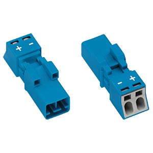 WINSTA® MINI, two-pin plug, without strain-relief housing WAGO 890-1112