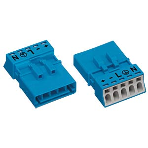 WINSTA® MINI, five-pin plug, without strain-relief housing WAGO 890-1115