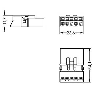 WINSTA® MINI, Stecker 5-pol, ohne Zugentlastungsgehäuse WAGO 890-1115