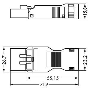 WINSTA® MINI, Stecker 5-pol, mit Zugentlastungsgehäuse WAGO 890-115