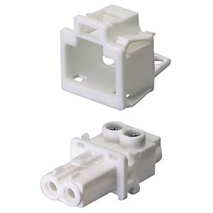 Device connection (snap-in) — socket, white, 2-pin WIELAND 91.921.9053.0