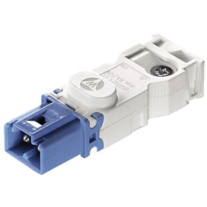 Connector — screw connection, plug, light blue WIELAND 91.922.3353.0