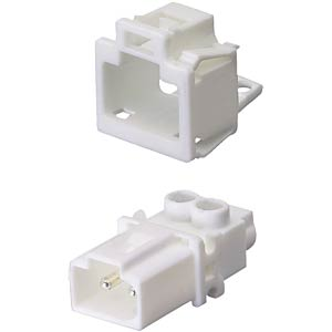 Device connection (snap-in) — plug, white, 2-pin WIELAND 91.922.9053.0