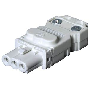 Connector, screw connection, socket, white WIELAND 91.931.3053.0