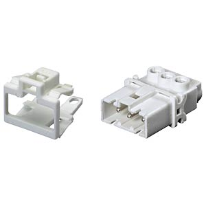 Device connection (snap-in) — plug, white, 3-pin WIELAND 91.932.9053.0