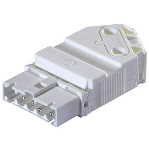 Connector, screw connection, plug, white WIELAND 91.952.3053.0
