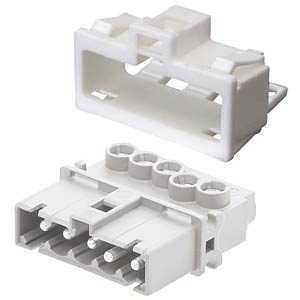 Device connection (snap-in) — plug, white, 5-pin WIELAND 91.952.9053.0