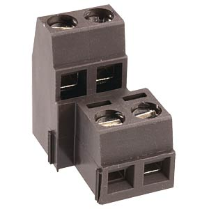 Two-tier terminal, 4-pin, spacing 5.0 RIA CONNECT 31092104