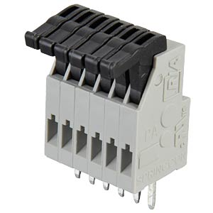 6-pin spring loaded terminal, 2.5-mm pin spacing RIA CONNECT AST0210604