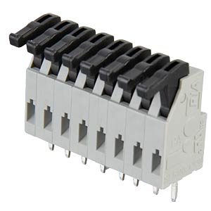 8-pin spring loaded terminal, 3.81-mm pin spacing RIA CONNECT AST0240804