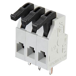 Federkraftklemme, 3-pol, Ø 0,08 - 1 mm, RM 5,0 RIA CONNECT AST0250304