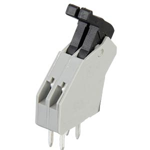 2-pin spring loaded terminal, 2.5-mm pin spacing, 45° RIA CONNECT AST0410204
