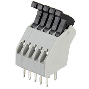 5-pin spring loaded terminal, 2.5-mm pin spacing, 45° RIA CONNECT AST0410504