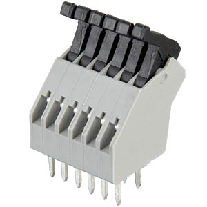 6-pin spring loaded terminal, 2.5-mm pin spacing, 45° RIA CONNECT AST0410604