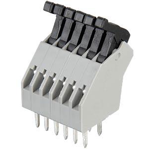 Federkraftklemme 6-polig, RM2,5mm, 45° RIA CONNECT AST0410604