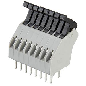 8-pin spring loaded terminal, 2.5-mm pin spacing, 45° RIA CONNECT AST0410804