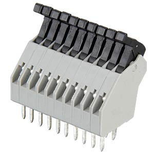 Spring-loaded terminal, 10-pole, RM 2.5 mm, 45° RIA CONNECT AST0411004
