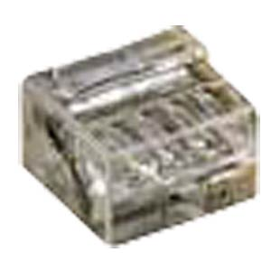 Micro plug-in terminals, 4-way, transparent, 0.4 - 0.5 mm² WAGO 243-144