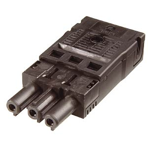 3-pin female connector, spring contact WIELAND 92.733.0053.1