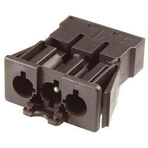 Stecker, Snap-in - 3-polig, schwarz, Federkraftanschluss WIELAND 92.032.9658.1