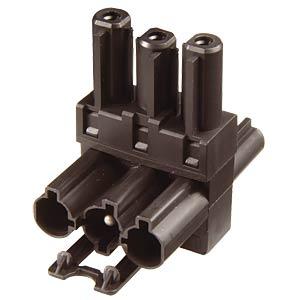T-Verteiler, 3-polig, sw, 1x Ein / 2x Aus WIELAND 92.030.1053.1