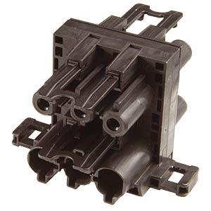 T-Verteiler, 3-polig, sw, 1x Ein / 3x Aus WIELAND 92.030.4853.1