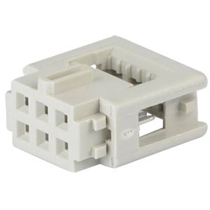Female connector, 6-Pin, Grid 2,54 mm HARTING 09 18 506 6803