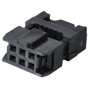 6-pin IDC socket with strain relief FREI