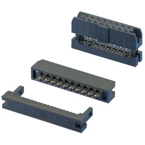 2 x 10-pin IDC connector, straight, pitch 2.00 W+P PRODUCTS 343-20-60-1