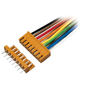 PCB connector straight, brown, 3-pin FREI