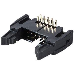 Pin connector, 10-pin, with interlock, angled FREI