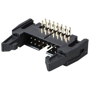 Pin connector, 14-pin, with interlock, angled FREI