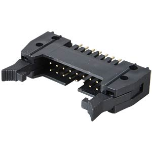 Pin connector, 16-pin, with interlock, straight FREI