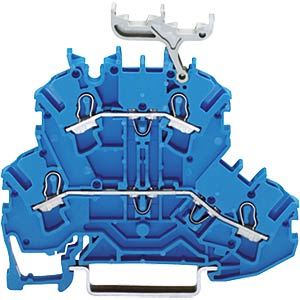 Double-deck feed-through terminal blocks up to 2.5 mm², blue WAGO 2002-2234