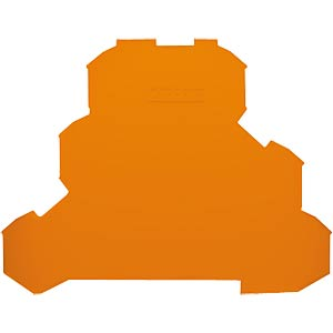 End plate for series 2002 triple-deck, orange WAGO 2002-3292